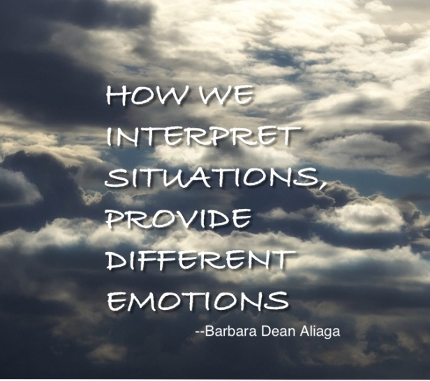How we interpret situations provide different emotions